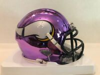 Adam Thielen Signed Chrome Minnesota Vikings Speed  Mini Helmet  C.O.A & Holo