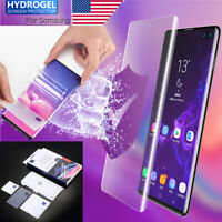 Full Cover Hydrogel Film Tempered Glass Screen Protector For Samsung Galaxy S10+