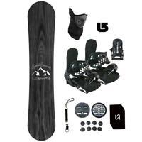 Symbolic Knotty Snowboard+Bindings Package Men Women Stomp+Leash+Mask+ Burton 3d