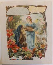 Tamagno Chromolithographie jeune fille femme tirage d'essai circa 1900