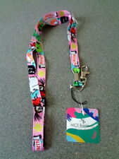 BNWT Moomin Pink Neck Strap Lanyard for ID Card Badge Holder with Metal Clip