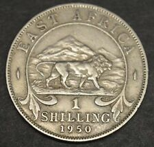 EAST AFRICA, Vintage 1950  GEORGIVS  1 SHILLING COIN, Fine Circulated, NICE COIN