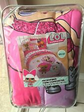 LOL Surprise Doll Comforter Twin Bedding Blanket Glitter Winter Disco RARE GOLD