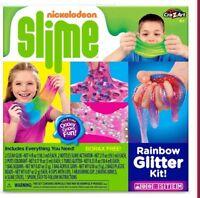 New Nickelodeon Slime Rainbow Glitter Kit Oooey Gooey Fun Mix Make it Yourself