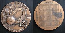 """MEDAGLIONE 14° CAMPIONATO MONDIALE DI CALCIO """"ITALIA 1990"""" CALENDARIO """"LORIOLI"""""""