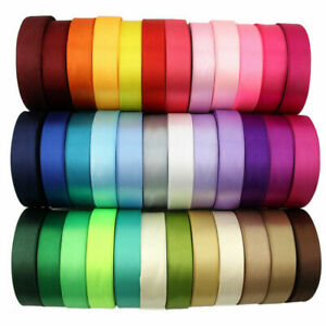 SATIN RIBBON DOUBLE SIDED VARIOUS COLOURS WIDTHS LENGTHS CRAFT SEWING CAKE CRAFT