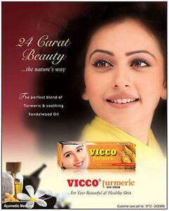 (Pack of 4) Vicco Turmeric Cream - 100% Herbal Fairness Cream -15gm