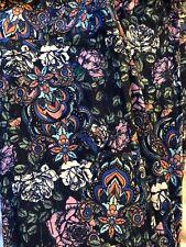 LuLaRoe OS leggings Solid Blue White Ornate Rose Floral 🦄 Paisley HTF New
