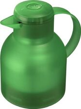 Emsa SAMBA Isolierkanne, Thermoskanne, Kaffeekanne Quick Press, Grasgrün, 1,0L
