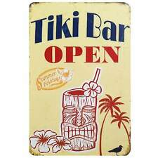 Tiki Bar Retro Metal Tin Sign Homewares Decor Kitsch Vintage Hawaii Cocktail