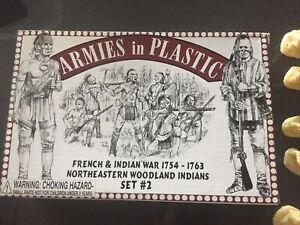 Armies In Plastic. Woodland Indians Set 2. 18 Figures