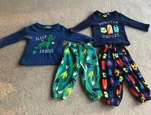 Boys Fleece Pyjamas 2-3 Years Dinosaurs Monsters