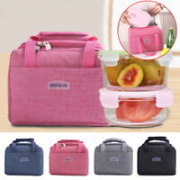 Adult Kids Thermal Insulated Lunch Bag Picnic Food Storage Lunch Box UK Bag Cool
