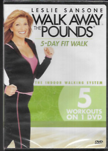 LESLIE SANSONE WALK AWAY THE POUNDS 5-DAY FIT WALK R1 DVD 5 WORKOUTS NEW/SEALED