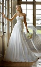 Plus Size 22 24 26 28 30 White Ivory Wedding Dress Chiffon A-line Strapless