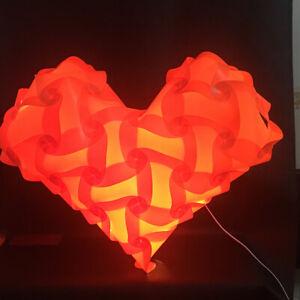 Bzwoyk 61pcs Heart-shaped IQ Lamp Shade Self DIY Assembled Puzzle Lights Medium