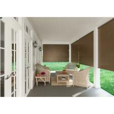 Coolaroo 6x6 Cordless Spring Operated Exterior Roller Shade Curtain-Brown