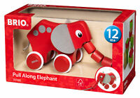 30186 BRIO Pull Along Elephant Wooden Toddler Toy Baby Age 12+ Months