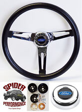 "65-69 Galaxie 500 Fairlane LTD steering wheel BLUE OVAL 13 1/2"" MUSCLE CAR"