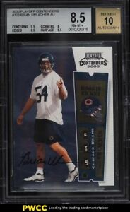 2000 Playoff Contenders Brian Urlacher ROOKIE RC AUTO #103 BGS 8.5 NM-MT+
