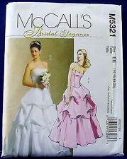 McCalls Pick-Up Skirt Ball Gown Wedding Dress Sewing Pattern 14,16,18,20 5321