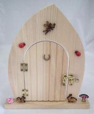 Real Wood Fairy Door Rabbit, Squirrel Toad Stool Garden miniature Pixie Elf LGW