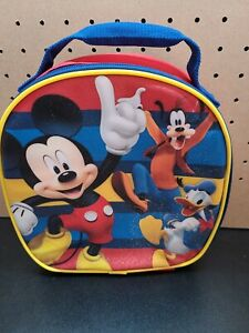 """Disney Thermos Lunch Box Soft Insulated Kids Tote mickey goofy and donald 10"""""""