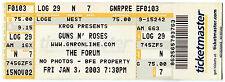 GUNS N ROSES 1/3/2003 Concert Ticket!! The Forum CA UNUSED stub