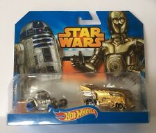 HOTWHEELS STAR WARS MOON BUGGY & CUSTOM VW TRANSPORTER, COLLECTABLE MODELS.