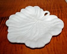 New ListingVintage Fitz & Floyd Bristol Canape Serving Plate Platter Grape Leaf Ivory White