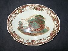 "BARKER BROS ENGLAND ROYAL TUDOR WARE ""OLDE ENGLAND"" BROWN MULTICOLOR 9"" BOWL"