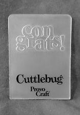 Cuttlebug piccole cartella embossing congratulazioni! si adatta Sizzix Big Shot & zione guidata