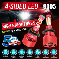 4-Sides 9005 HB3 LED Headlight Kits 2800W 280000LM Bulb Power 6000K White Lamps