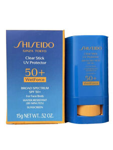 Shiseido Clear Stick Uv Protector 50+ Wetforce SPF 50+ ~ 15g ~ NWB
