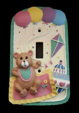 TEDDY 3D LIGHT SWITCH WALL PLATE COVER KID GIFT