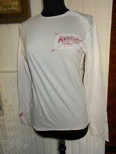 Tee shirt coton blanc imprimé logo rouge KAPORAL M  manche longue