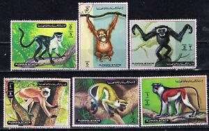 Ajman Fauna Wild Animals Monkeys set 1972