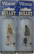 2 - Blue Fox Vibrax Bullet Fly Spinners - Size 1 (3/16 oz.) - Two Great Colors!