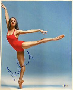 MISTY COPELAND HAND SIGNED AUTOGRAPHED 15X12 PHOTO WITH BECKETT COA VERY RARE