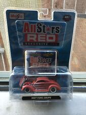 2008 MAISTO All Stars Red 1937 Ford Coupe Exclusive 100 1/64 '37