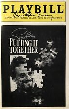 Christopher Durang Signed PUTTING IT TOGETHER Broadway Playbill Sondheim