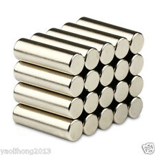 20pcs 6 mm x 20 mm Round Cylinder Magnets Rare Earth Neodymium N50 Magnets
