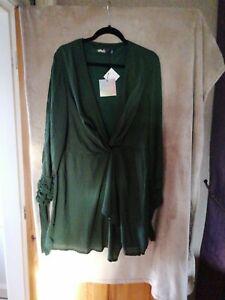 Missguided Green Dress (Size 18) BNWT