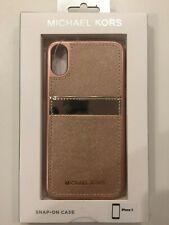Michael Kors Saffiano Leather Phone Case For Iphone X - Rose Gold NEW