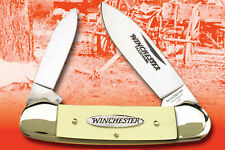 "WINCHESTER CANOE POCKET KNIFE YELLOW HANDLE 3 5/8"" CLOSED W40-14012Y NEW"