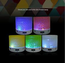 Colourful Crack Mini Portable Wireless Bluetooth Speakers LED Stereo Handfree