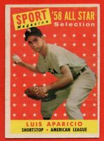1958 Topps #483 Luis Aparicio EX-EXMINT Chicago White Sox HOF FREE SHIPPING