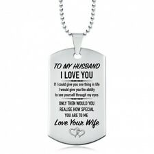 To My Husband, I Love You Love Your Wife Dog Tag, Stainless Steel
