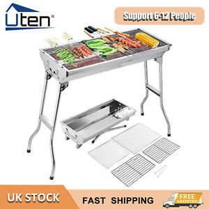 Barbecue Folding BBQ Charcoal Grill Stainless Steel Outdoor Patio Garden Picinic