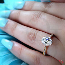 Classic Oval Cut 1.90 Ctw Diamond Engagement Ring  I VS2  GIA Certified
